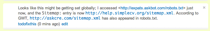 Comment left on answer that shows URLs being converted into links.