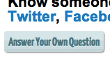 "Not-truncated ""Answer Your Own Question"" button"