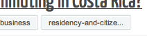 "Screenshot of tags for question with ""residency-and-citizenship"" tag displaying as ""residency-and-citize..."""