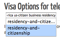 "Another retag dialog with autocomplete showing both the truncated and full versions of the ""residency-and-citizenship"" tag"